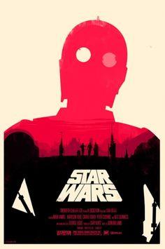 Designspiration — British Artist Redesigns 'Star Wars' Posters - DesignTAXI.com
