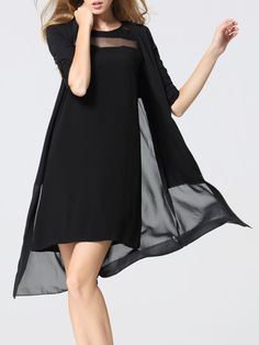 Shop Coats - Casual Chiffon Long Sleeve Coat online. Discover unique designers fashion at StyleWe.com.