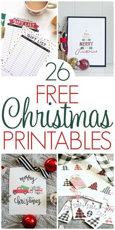 Free Christmas Printables - Organization Obsessed