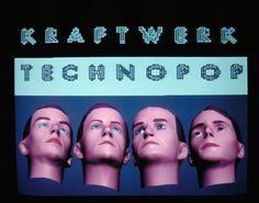 Kraftwerk - image taken during the test graphics created for Techno Pop, 1986.