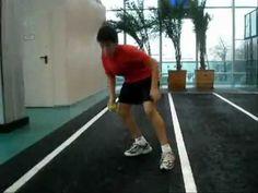 Большой теннис ОФП работа ног видео урок Стойка - YouTube