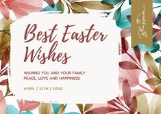 Customize the Watercolor Best Easter Wishes Card template and make it match your brand!