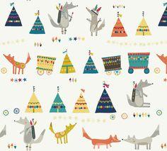 wolf pattern.