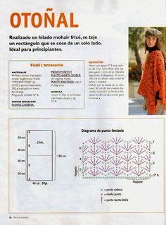 Poncho Otonal Crochet-Tricon Patron - Patrones Crochet