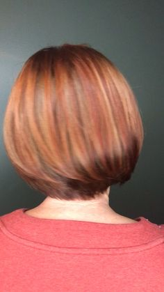 Cinnamon spice haircolor bob Cropped asymmetrical bob with a customized creative color placement of Short Hair Cuts, Short Hair Styles, Brown Hair Balayage, Layered Bob Hairstyles, Best Salon, Cinnamon Spice, Creative Colour, Hair Looks, Hair Inspo