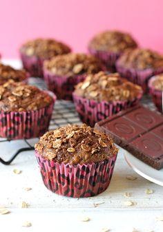 Mocha Oatmeal Muffins - Damn Delicious