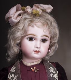 "22"" (56 cm) French Bisque Bebe - closed mouth by Jumeau"