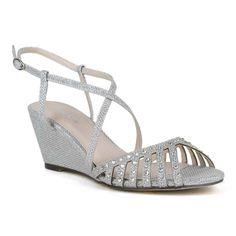 celeste womens cathy 01 medium heel shining t strap wedge sandal by celeste