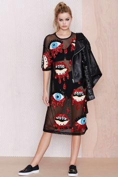 DI$COUNT TRA$H Bleeding Sequin Dress at Nasty Gal