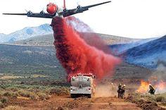 Close, precision aerial fire fighting