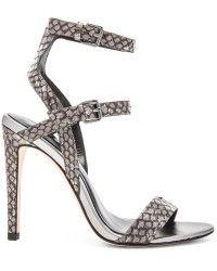 Rebecca Minkoff | Rosalie Snake-Embossed Sandals | Lyst