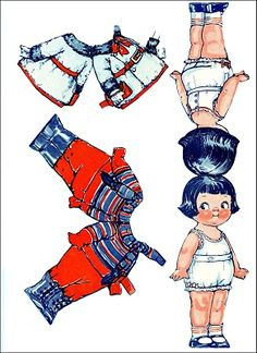 Free Printable - Vintage Christmas Paper Dolls 2 - The Graphics Fairy
