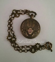 Pocket Watch Pendant  Pocket Watch Necklace by FullCircleTreasures