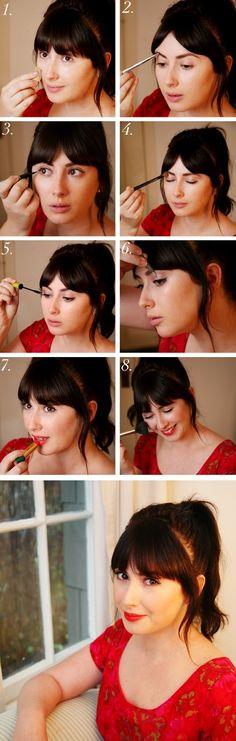 Maquillage des années cinquante étape par étape