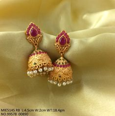 For orders, please whatsapp image of the product you like on Online Payment*/Cash on Delivery*- Both available COD*- Rs. 75 extra charge + o Gold Jhumka Earrings, Jewelry Design Earrings, Gold Earrings Designs, Gold Jewellery Design, Ear Jewelry, Gold Jewelry, American Diamond Jewellery, Gold Mangalsutra Designs, Jewelry Collection
