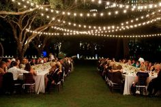 Outdoor wedding Fairy light pretty