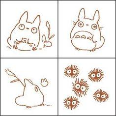 Ghibli - Totoro & Chu & Sho Totoro & Kurosuke