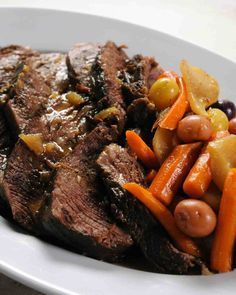 Pot Roast - Martha Stuart - stove top - takes 2 to 3 hours to cook - very easy and delicious