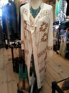 Love this light weight cream maxi cardigan with gold aztec design.  Only $30.00 http://www.britchesnbowscountrystore.com/cart/agora.cgi?cart_id=9900205.23629*wU0vU8&next=60&exact_match=on&product=boutique