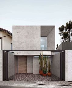 Minimal House Design, Minimal Home, Small House Design, Design Exterior, Facade Design, Modern Exterior, Minimalist Architecture, Facade Architecture, Sustainable Architecture