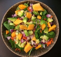 Papaya Spinach Salad with Lime Dressing — The FIT Confidential