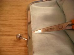 Adding those fancy clasps to simple hand-sewn bags. I did not know it would be this easy.  This site has tons of great tutorials about bags. They even put measurements on the pics!