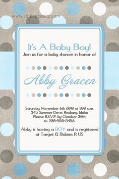 Baby boy shower invitation |  For more beautiful invitation ideas, follow us at http://www.pinterest.com/duoparadigms