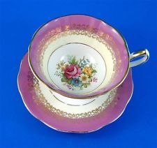 floral teacups with saucers | eBay
