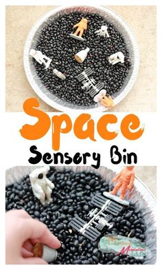 Space Sensory Bin for Kids Great tactile play for little kids that love astronauts