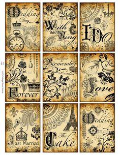 Amazing Vintage Home Decor Simple Ideas - Welcome my homepage Papel Vintage, Decoupage Vintage, Decoupage Paper, Vintage Paper, Decoupage Chair, Vintage Labels, Vintage Ephemera, Vintage Cards, Vintage Posters