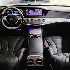 """""""Mercedes-Benz S550 AMG. Black Leather & Metalized Ashwood Beautiful Mercedes interior ⚫️ would you drive this beautiful car?  © @nycbenz"""""""