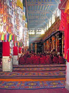 Inside Drepung Monastery, Tibet.