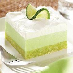Lemon-Lime Cooler Dessert........uses Pillsbury Key Lime Favored Cookie Mix, coconut, Lime Jello, Lemon Jello, Pillsbury Key Lime Flavored Frosting, cream cheese, heavy cream
