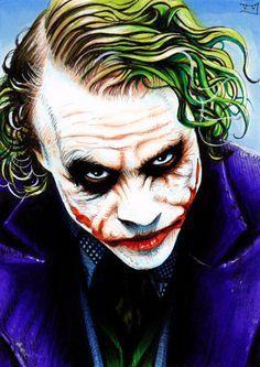 The Joker by Trev Murphy Batman Joker Wallpaper, Joker Iphone Wallpaper, Joker Wallpapers, Joker Batman, Der Joker, Heath Ledger Joker, Joker Cosplay, Joker Painting, Suicide Squad