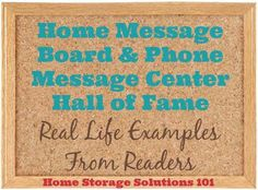Home message board and phone message center hall of fame {on Home Storage Solutions 101}