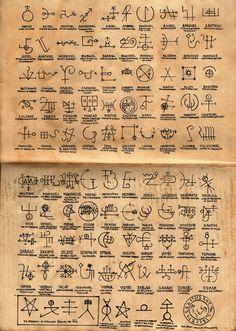 the ancient knowledge: Photo Mystic Symbols, Occult Symbols, Occult Art, The Occult, Alphabet Code, Alphabet Symbols, Ancient Alphabets, Ancient Symbols, Mayan Symbols