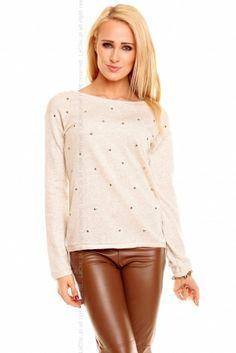 bluzka Solange SL978 BEŻOWY