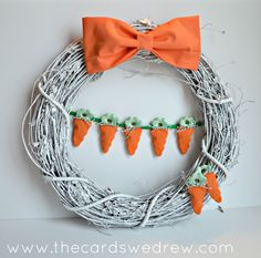 Carrot Easter Wreath from www.thecardswedrew.com
