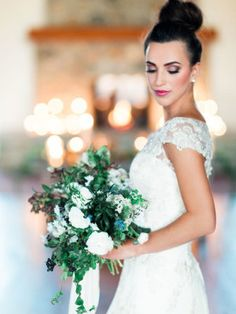 Bride in Cap Sleeve Gown | photography by http://www.megan-robinson.com/