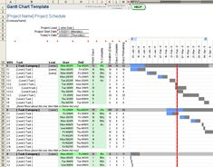 project management excel gantt chart template free