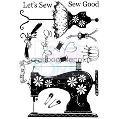 Sweet Dixie Clear Stamp Lets Sew