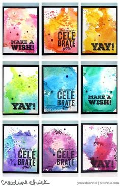 Watercolored Birthday Cards | shurkus.com