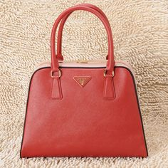 270e48a349 prada pyramid red pink two tone saffiano calf leather women  6bag9200  -   277.20    Prada  Handbags  Outlet
