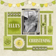 10/11/13 Gotta Pixel Digital Scrapbook LOTD: This awesome page by lukasmummy, titled Ella's Christening is Layout of the Day today! www.gottapixel.net/