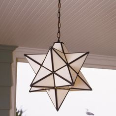 Superior Moravian Star Hanging Light (Ripple or White Glass) - $455