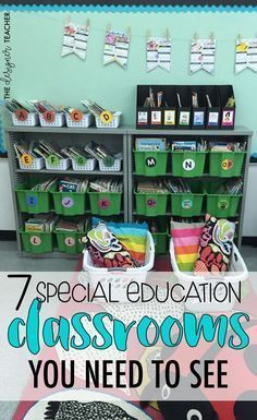 7 Special Education Classrooms You Need To See — The Designer Teacher 7 Special Education Classrooms You NEED To See! {from The Designer Teacher}<br> 7 Special Education Classrooms You NEED To See! Life Skills Classroom, Classroom Layout, Autism Classroom, School Classroom, Classroom Organization, Classroom Ideas, Future Classroom, Special Education Organization, Life Skills Activities
