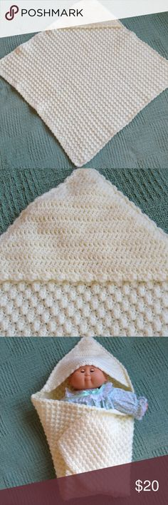 Handmade crocheted baby afghan. Soft and warm for that little bundle of joy!  New, never used. Washable. Accessories