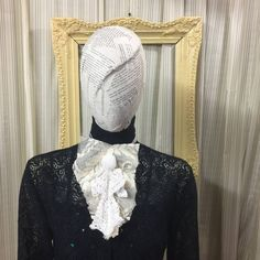 Victorian lace collar Jabot drape Elegant Gothic Lolita  Steampunk Cream lace white angel cosplay Geechlark 5082 by Geechlark on Etsy #steampunk #tailcoat #victorian #costume #reenactment #etsyusa #etsyfinds #etsylove  #accessories  #etsyshopowner #etsyseller #geechlark #jabot #lacecollar