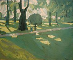 """huariqueje: """"  Efterarssl - Erik Hoppe , 1949 Danish, 1896-1968 Oil on canvas , 53 x 66 cm. """""""