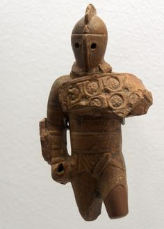 - Roman terracotta figurine of a Samnite gladiator from Volubilis | Found at Volubilis (Pleiades; Site de Volubilis; PECS (Perseus); .Terracotta, Roman period  National Archaeological Museum (Musée archéologique de Rabat;  Rabat, Morocco,  .Moroccan Ministry of Culture ./tcc/